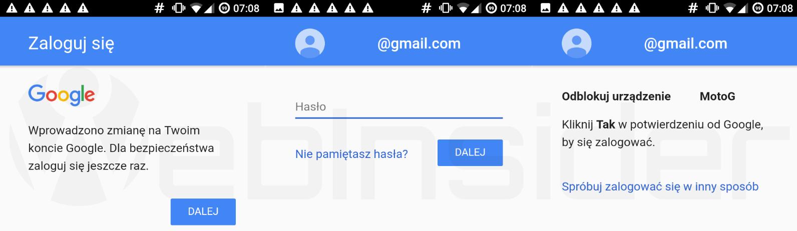 google synchronizacja 1
